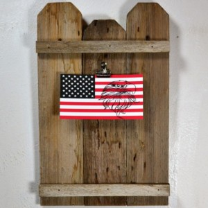 Rustic clipboard photo frame or display for 8x10 horizontal photos