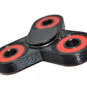 3D Printed Tri Fidget Spinner Black - Hand spinner with bearings- tri spinner EDC desk toy stress relief