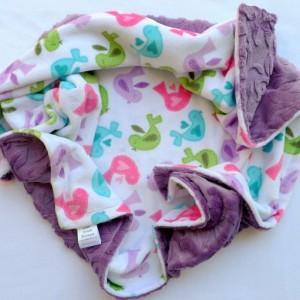 Baby Blanket - Bird Baby Blanket - Minky Baby Blanket - Baby Girl Blanket - Girl Baby Blanket - Baby Shower Gift - Bedding - Crib Bedding