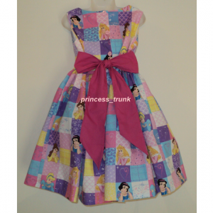 NEW Handmade Disney Princesses Cinderella/Snow White/Sleeping Beauty Patchworks Custom Size 12M-14Yrs