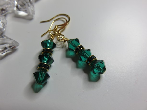 Emerald Isle Earrings in Gold