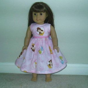 "NEW Handmade Matching 18"" Doll Dress Fit American Girl (Any Fabric You Choose, Match Girl's Dress)"