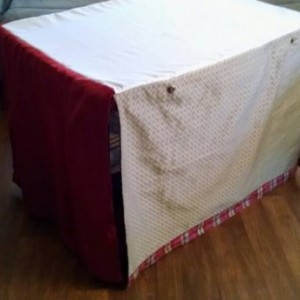 Stylish Pet Crate Cover, Custom Made