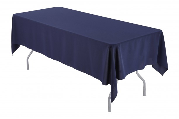 60 x 126 inch Rectangular Navy Tablecloth Polyester | Wedding Tablecloth
