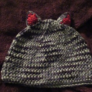 Grey Kitty Ear Hat for 12-16 Month Baby