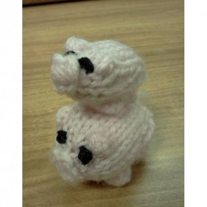 Hand Knit Pig and Piglet, choose your color