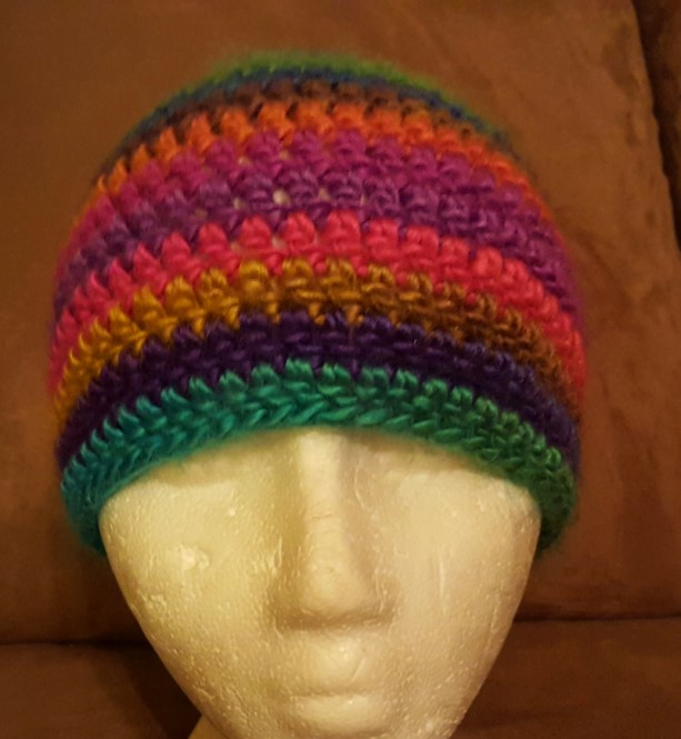 Messy Bun Beanie - Rainbow