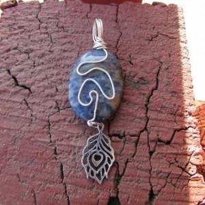 sodalite oval pendant.