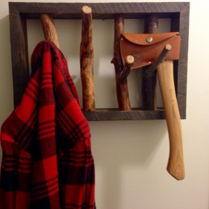 Rustic Branch Coat Rack–24inch