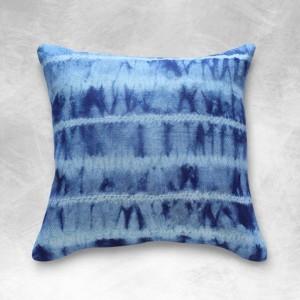 """18 x 18"""" Tie Dye Indigo """"Shibori Avani"""" BOHO Pillow"""