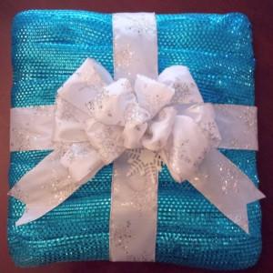 Deco Mesh Gift Wreath