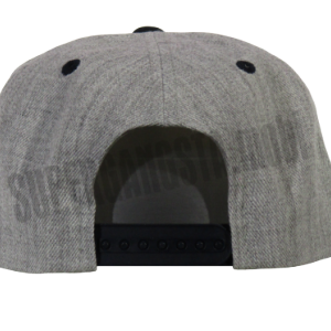 Super Gangsta Snap Back Baseball Hat - Grey & Navy