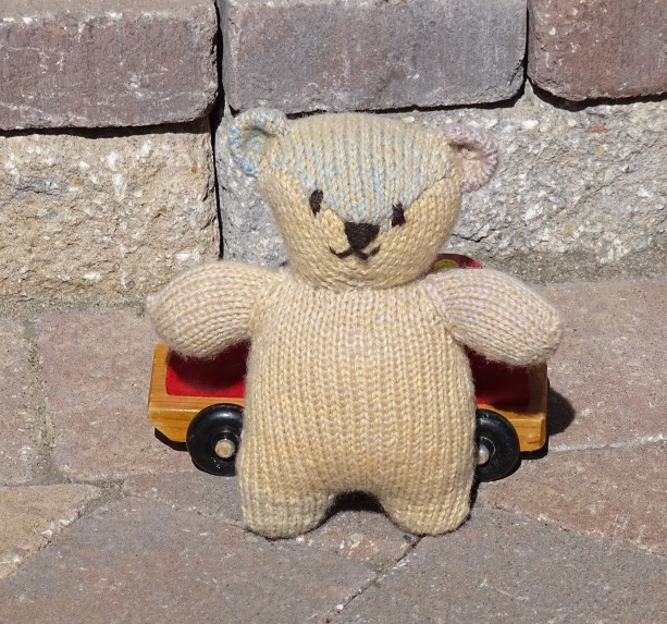 Hand Knitted Bear, Baby Toy, Stuffed Bear, Light Brown Bear, Hand Knitted Teddy Bear, Plush Toy, Infant Toy, Teddy Bear, Ready to Ship