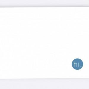 Custom Note Cards - Original - Set of 6 - Blank Inside - Blue & White
