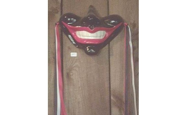 Smile Gothic Mask Medieval Jester Wall Decor Rocky Horror Black Face Red Lips Joker Clown Indoor Home Hanging Decoration Fantasy