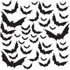 Halloween Themed - 44 Bats Vinyl Decals
