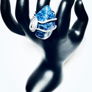 Sodalite Blue Decorative Stone Ring