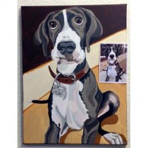 """Gracie - Custom Dog Portrait - 12"""" x 16"""" x 1.5"""""""