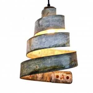 CORBA Collection - Lavaliere - Wine Barrel Ring Pendant Light / made from retired CA wine barrel rings - 100% Recycled!