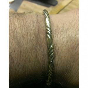 Men's Viking Brass Bracelet