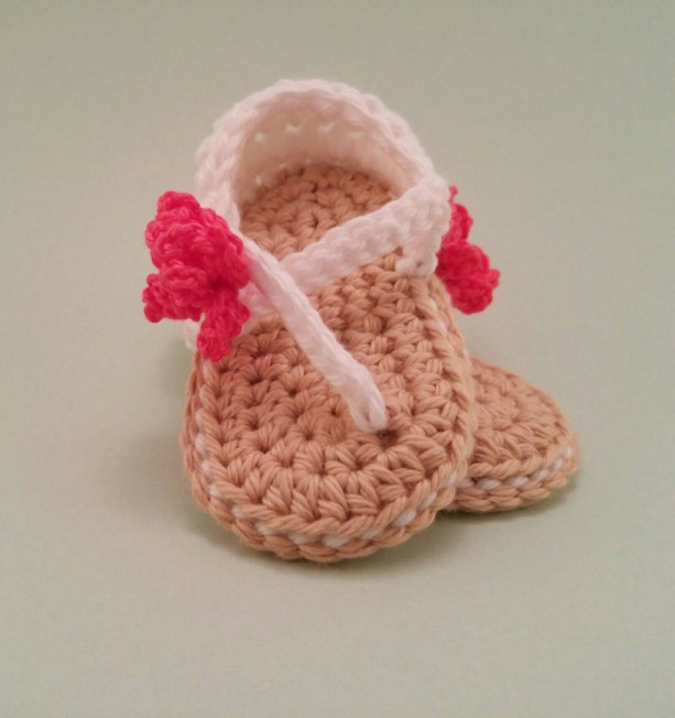 White Baby Girl Sandals Crochet Baby Sandals Flower Sandals