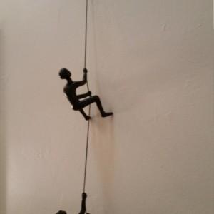 Climbing Man Wall Art buy 4 get 1 free!! wall art decor x 2 pcs, chasing climbing man