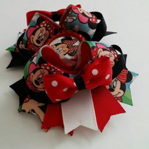 Minnie mouse inspired Stacked Boutique Hair Bow, Minnie mouse hair bow,  Minnie mouse bow, Minnie hair bow,  Minnie bow, Minnie mouse party