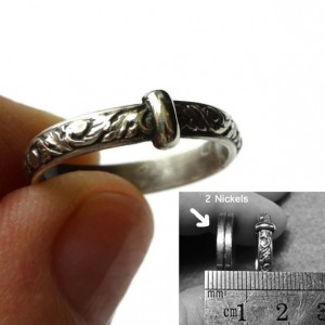 THE Original Filigree Thistle Pattern Ring - Sterling Silver - Celtic - All Sizes - Sporran Key - Highlander Fan - Blacksmith - Scotland