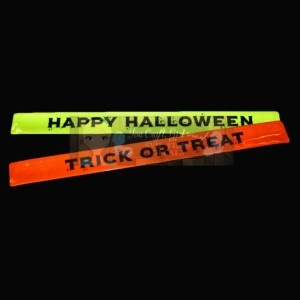 Child Reflective Bracelets - Trick or Treat - Slap Bracelets - Halloween Safety Bracelets - Halloween Costume Safety - Reflective Gear