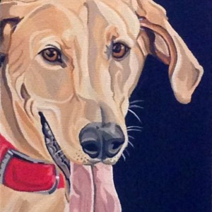 "Zale - Custom Dog Portrait 9"" x 12"" x 1.5"""