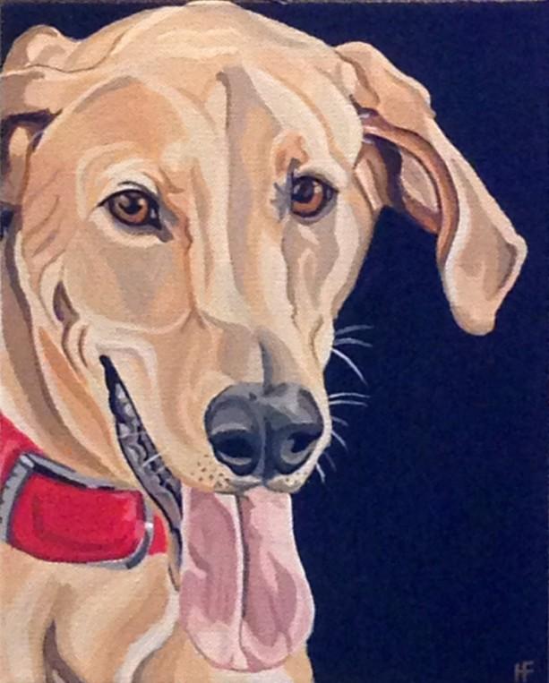 """Zale - Custom Dog Portrait 9"""" x 12"""" x 1.5"""""""