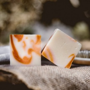 Handmade Orange Citrus Bar Soap set of 2