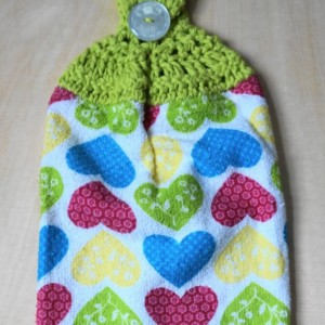 Sweetheart Crochet Kitchen Towel