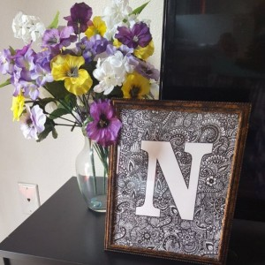 Zentangle customized 'N' letter