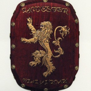 House Lannister sigil plaque.  Unique and handmade.