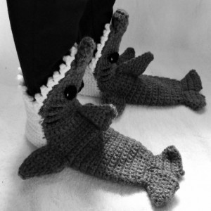 Shark socks - shark slippers - shark shoes - youth and adult - gift ideas for guys - made to order