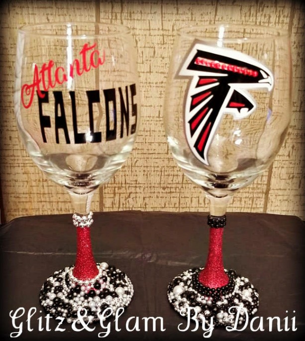 Atlanta Falcons Wine Glass-Falcons 2PC, Atlanta Falcons, Wine Glass, Custom Wine Glass, personalized wine glass, Shot Glass,