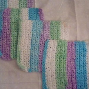 Crocheted Dish or Wash Cloths - 100% Cotton