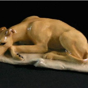 Ron Hevener Greyhound Dog Figurine