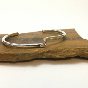 Forged Loop Silver Bracelet-Size 6.75 to 7