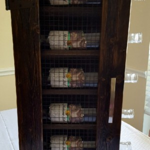 Handcrafted Wine Cabinet with Dark Walnut Finish, Wine Storage, Wine Rack