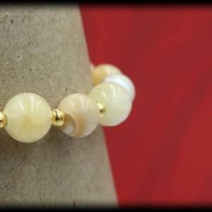 Mother of Pearl and Yellow Calcite Solar-Plexus Chakra Bracelet