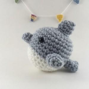 Amigurumi ocean Animal - narwhal, dolphin, shark, whale, crochet mini animal, amigurumi shark, amigurumi dolphin, kawaii, handmade,