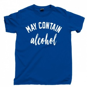 May Contain Alcohol T Shirt, Weekends Vodka Mimosa Sunday Funday Brunch Wine Men's Unisex Cotton Tee Shirt