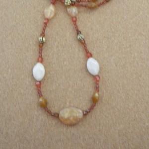 Long Peach Necklace