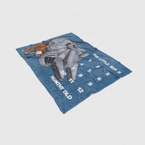 Custom Made Space Wars Inspired Characters Milestone Blanket