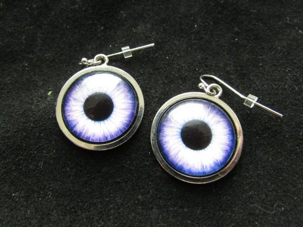 Purple & Lilac Owl eye earrings