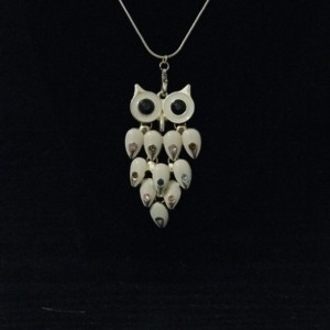 "BOHO Owl Necklace 18"" Gold Chain"