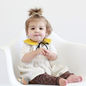 Mustard & Hollie Peter- Pan Collar