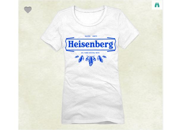 Lady T-Shirt BREAKING BAD HEISENBERG White  XS-XL